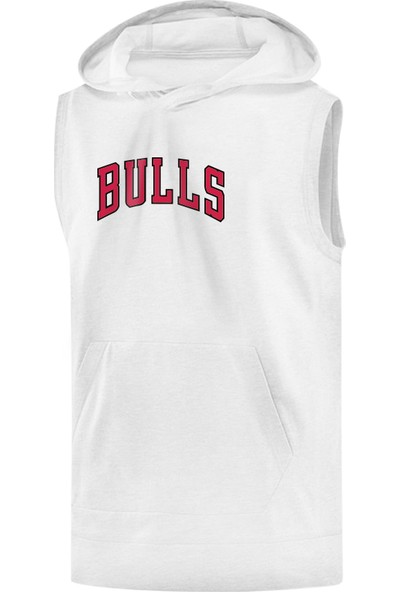Chicago Bulls Sleeveless Kapüşonlu Sweatshirt