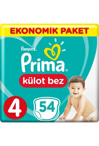 Prima Külot Bebek Bezi 4 Beden 54 Adet Maxi Ekonomik Paket