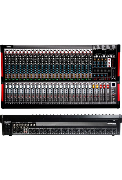 Midex Mdx-24 24 Kanal Ses Mikseri 2 x 99 Dsp Efekt Eq 6 Aux USB - Kayıt