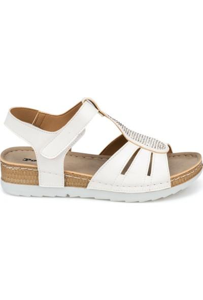 Polaris 91.150871.Z Beyaz Kadın Sandalet