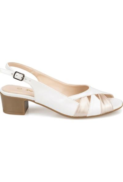 Polaris 91.150801.Z Beyaz Kadın Sandalet