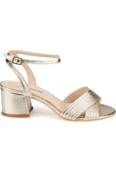 Polaris 91.313198.Z Altın Kadın Sandalet