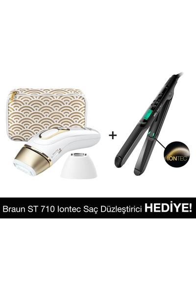 Braun Silk·Expert Pro5 PL5137 Lazer Epilasyon,400.000 Atım + Braun ST 710 Saç Iontec Saç Düzleştirici Hediye