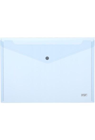 Kraf Çıtçıtlı Dosya A4 Şeffaf 1209 4Lü Karışık(Pembe/Şeffaf/Mavi/Sarı)