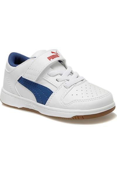 Puma Pm Rebound Layup Lo Sl V Beyaz Unisex Çocuk Sneaker Ayakkabı