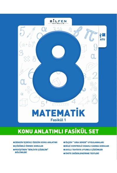 8.Sınıf Matematik Konu Anlatımlı Fasikül Set / Bilfen Yay.