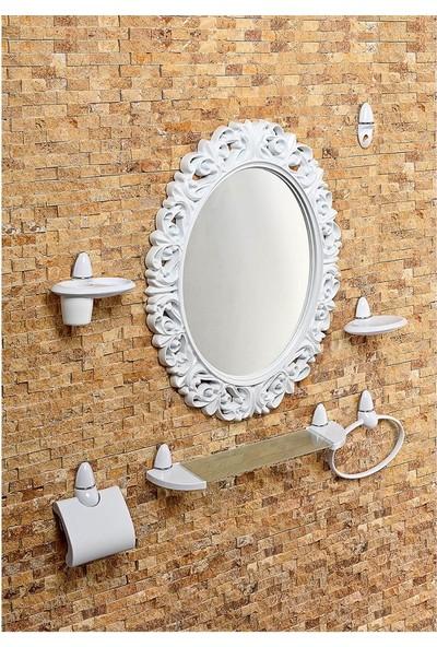 Çelik Ayna Dekoratif Oval Ayna Seti