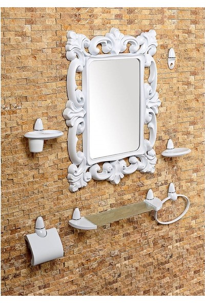 Çelik Ayna Dekoratif Kare Ayna Seti