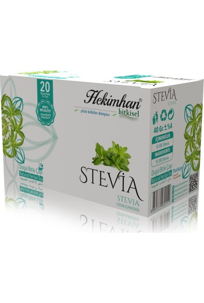 Hekimhan Bitkisel Stevia Çay 20 Li
