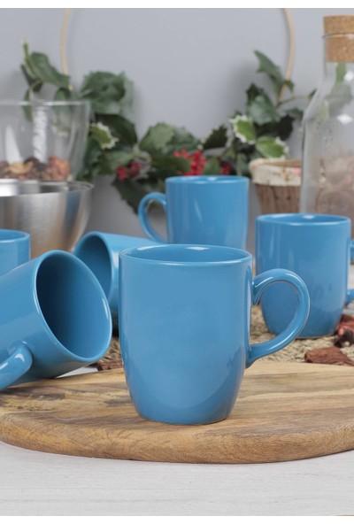 Keramika Mavi Bulut Kupa 9 Cm 6 Adet