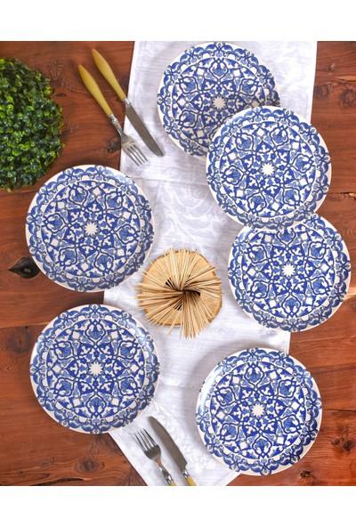 Keramika Osmanlı Ege Servis Tabağı 25 Cm 6 Adet - 17667