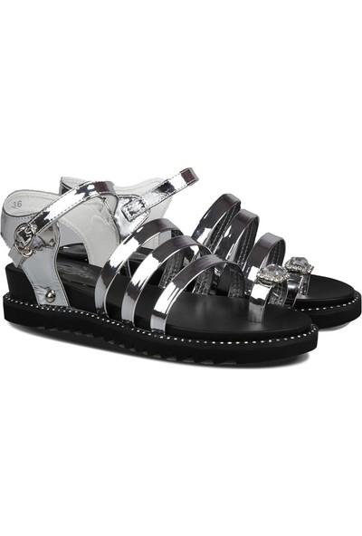 Guja 181-27 Gümüş Kadın Sandalet