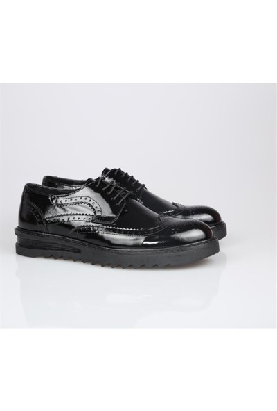 Dinç Dc 181-203 Siyah Rugan Erkek Ayakkabı