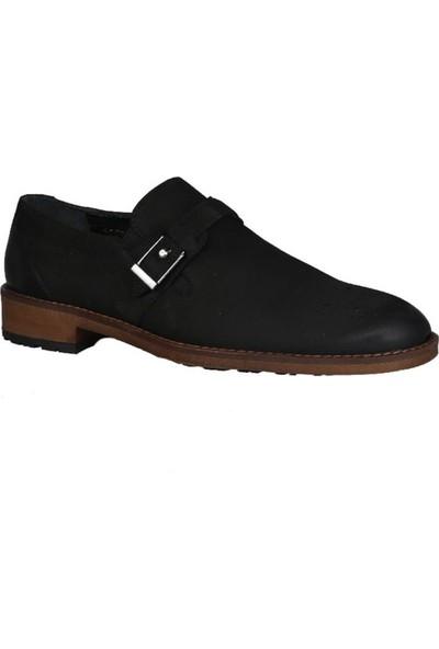 Kıng West 191-51 Siyah Nubuk Erkek Ayakkabı