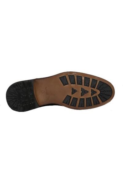 Kıng West 191-52 Siyah Nubuk Erkek Ayakkabı