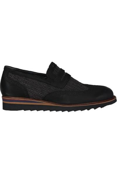 Kıng West 191-53 Siyah Nubuk Erkek Ayakkabı