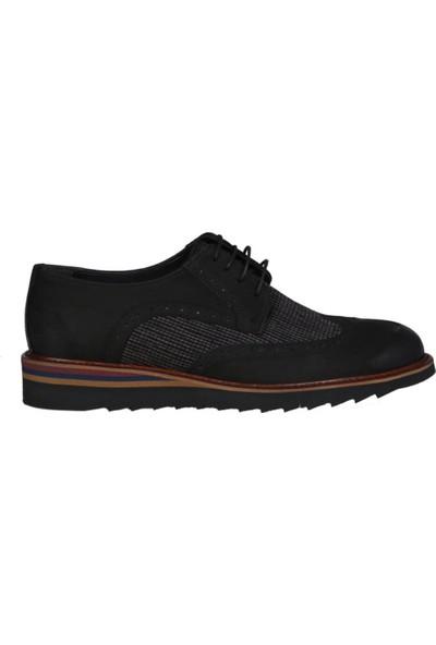 Kıng West 191-54 Siyah Nubuk Erkek Ayakkabı