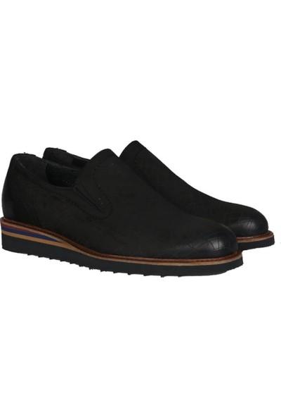 Kıng West 191-55 Siyah Nubuk Erkek Ayakkabı