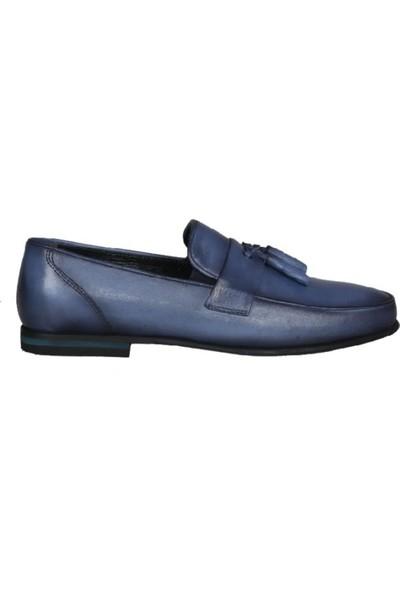 Kıng West 191-60 Mavi Erkek Ayakkabı