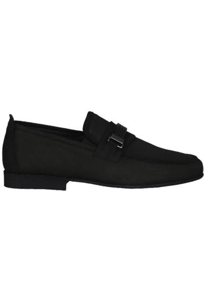 Kıng West 191-61 Siyah Nubuk Erkek Ayakkabı