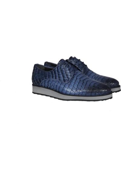 Kıng West 191-62 Mavi Erkek Ayakkabı
