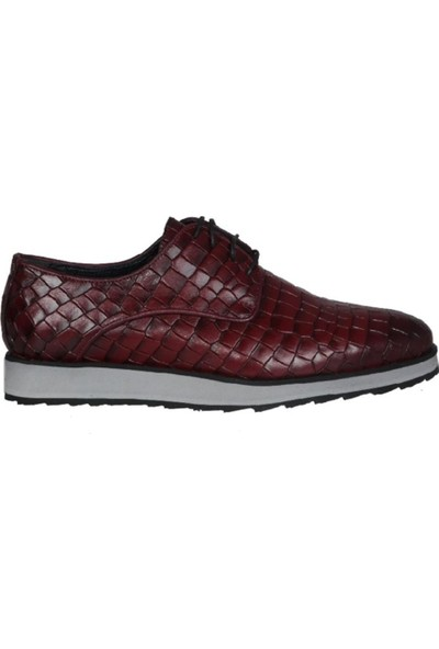 Kıng West 191-62 Bordo Erkek Ayakkabı