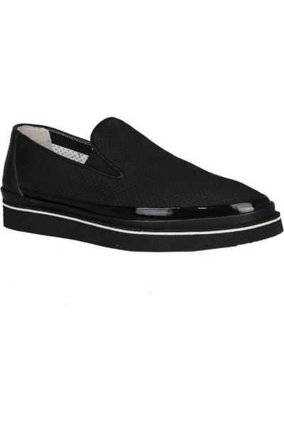 Kıng West 191-65 Siyah Nubuk Erkek Ayakkabı