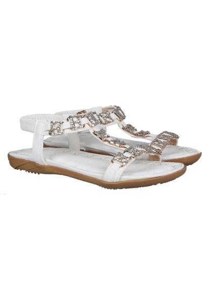 Guja 191-123 Beyaz Kadın Sandalet