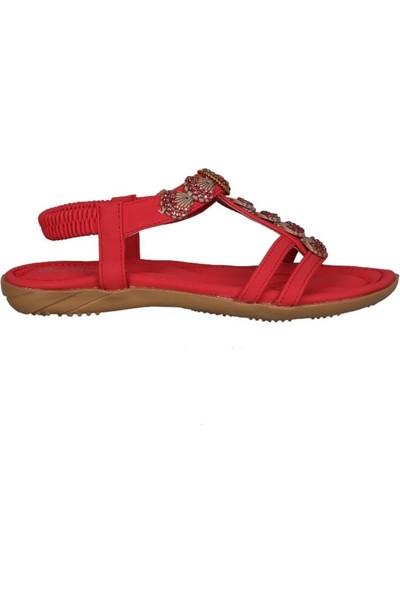 Guja 191-124 Kırmızı Kadın Sandalet
