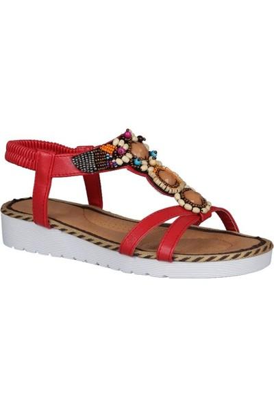 Guja 191-129 Kırmızı Kadın Sandalet