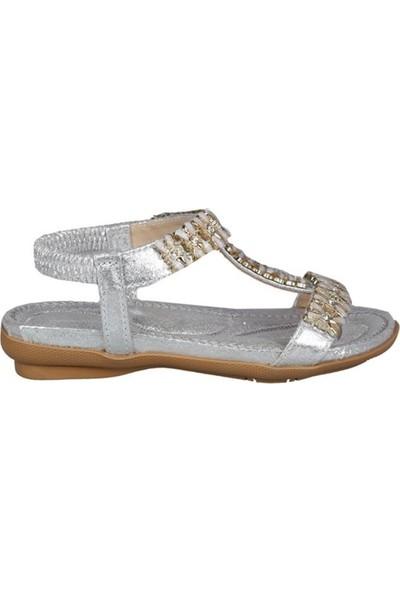 Guja 191-162 Gümüş Çocuk Sandalet