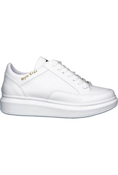 Style Star 181-2 Beyaz Erkek Ayakkabı