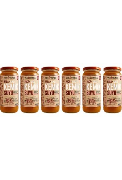 Veg&bones Paça+Ilikli Kemik Suyu 480 ml 6'lı Paket