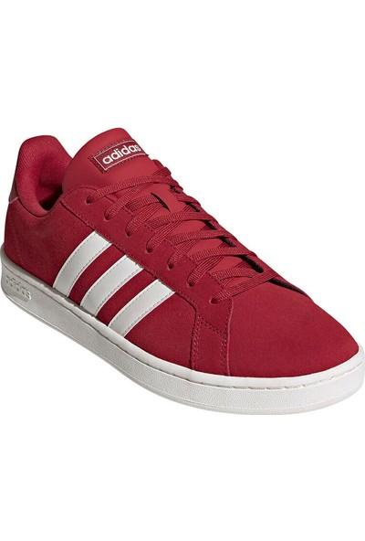 Adidas Grand Court Bordo Erkek Sneaker Ayakkabı