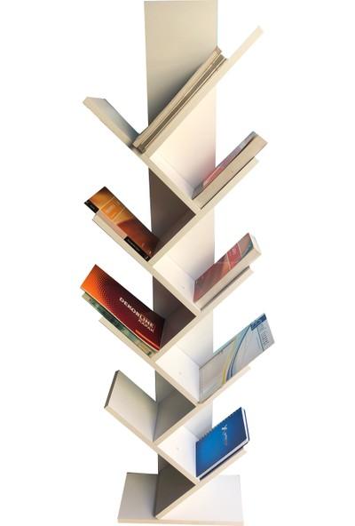 Yiğit Mobilya Puzzle Kitaplık Beyaz
