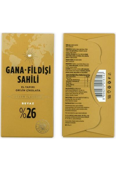 Kahve Dünyası El Yapımı Beyaz Çikolata Gana Fildişi Şeker Ilavesiz 100 gr