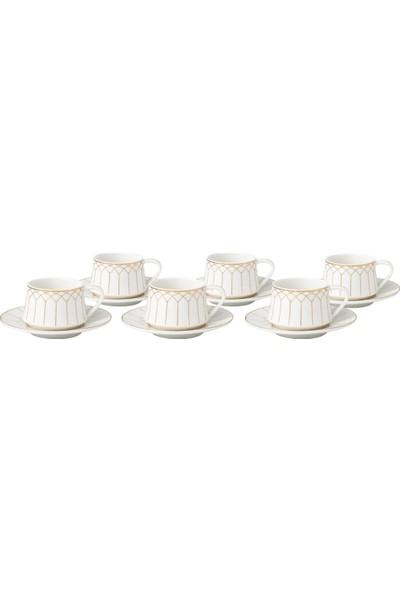Bambum Pata Prestij 6 Kişilik Porselen Kahve Fincan Takımı