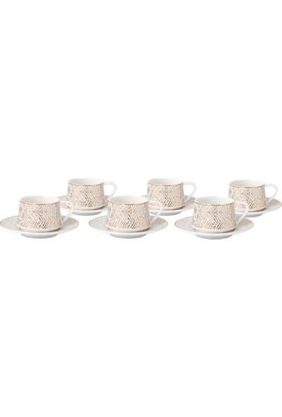 Bambum Lusso Prestij 6 Kişilik Porselen Kahve Fincan Takımı