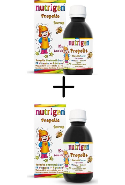 Nutrigen Propolis Şurup 200 Ml*2 (2'li Fırsat Paketi)
