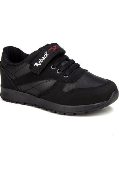 Reback Siyah Unisex Çocuk Ayakkabı Sneaker