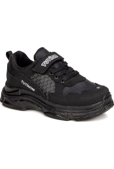 Tontix Tutinom Siyah Unisex Çocuk Ayakkabı Sneaker