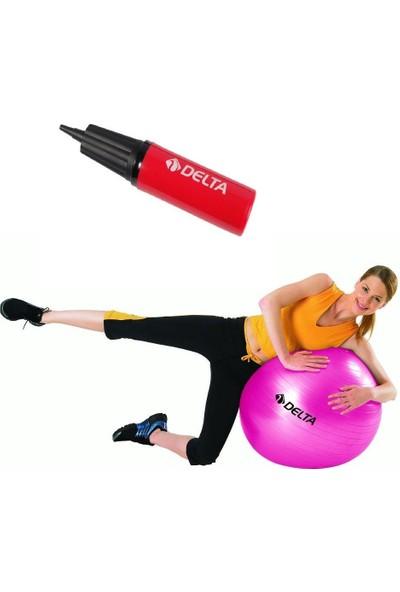 Delta Dura-Strong Fuşya Deluxe Pilates Topu ( 55 cm Pilates Topu + Pompa )
