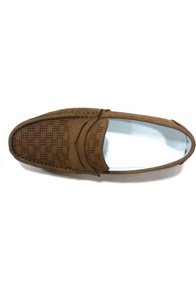 Fancy 020 Camel Kahve Nubuk Bağcıksız Erkek Ayakkabı