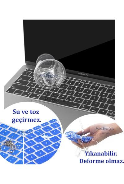 Macstorey Apple Yeni Macbook Pro A1708 13 A1534 12 Q Klavye Koruyucu Kapağı Silikonlu Kılıf Türkçe Baskı TR 358