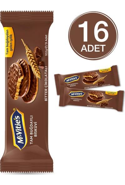 Mcvities Digestive Thins Bitter Çikolatalı Bisküvi 93 grx16