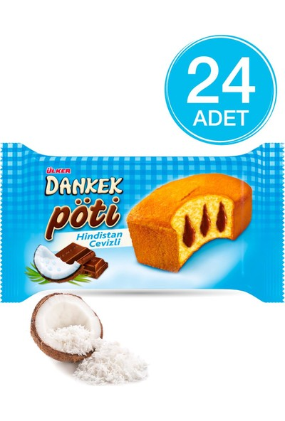 Ülker Dankek Pöti Hindistan Cevizli Muffin Kek 40 gr 24 adet