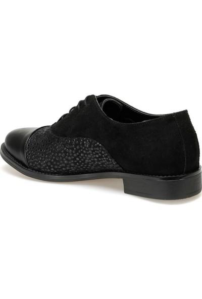 Miss F Dw19034 Siyah Kadın Maskulen Ayakkabı