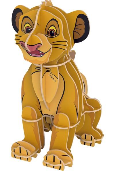 Clementoni - 104 Parça Puzzle + 3D Model Lion King