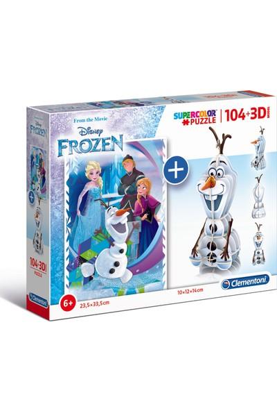 Clementoni - 104 Parça Puzzle + 3D Model Frozen