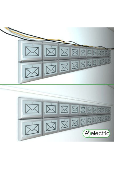 A Plus Elektrik 75x50 mm Beyaz 2x1m=2m Bantsız Kablo Kanalı